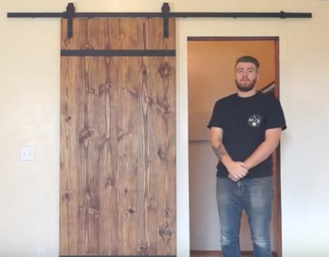 Gör det själv - Bygga egen skjutdörr och montera utanpåliggande skjutdörr