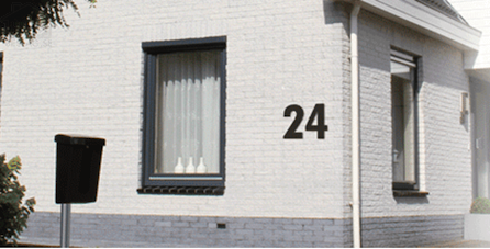 Fasadsiffror Husnummer i XXL format