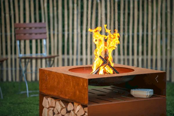 Eldstad med grill - design och hög kvalitet